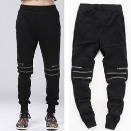 $enCountryForm.capitalKeyWord UK - Fashion Man Harem Biker Jogger Hip Hop Pants Zipper Cool Sweatpants Kanye West Trousers Swag Urban Clothing For Men C19041201