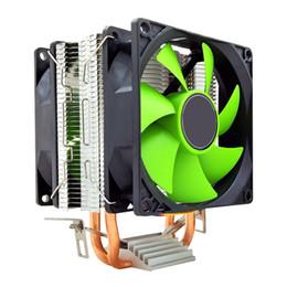 $enCountryForm.capitalKeyWord Australia - Dual Fan Copper Hydraulic Bearing Fast Computer Accessories Durable Radiator 90mm 12V Without Light Quiet Heatsink CPU Cooler