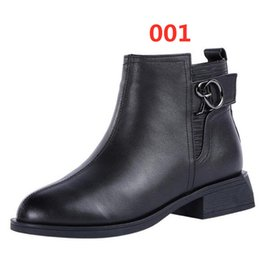 elegant heel snow boots Australia - New Fashion Winter Shoes Woman Genuine Leather Boots Warm Snow Boots 2019 Elegant Comfort Low Heel Winter Boots Casual Shoes