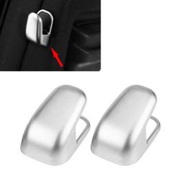 Wholesale Black S Hooks Australia - 2pcs ABS Car B-Pillar Hook Cover Chrome Moulding Trim for Mercedes Benz CLS E S Class 2010 2011 2012 2013 2014 2015 2016
