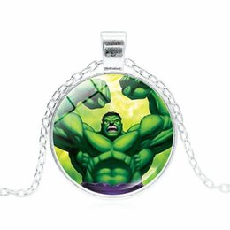 $enCountryForm.capitalKeyWord Australia - Marvel heroes hot sale Hulk Hulk time gemstone glass alloy pendant necklace Professional wholesale foreign trade explosion jewelry