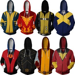 l x l clothing Australia - X-Men Costumes Clothes Mens Boys Hooded Sweatshirts Wolverine 3D Clothes Streetwear Zipper Long Sleeves Clothing Logan Howlett