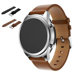 $enCountryForm.capitalKeyWord NZ - 2017 New Arrival wrist watch band men Replacement PU Leather Watch Bracelet Strap Band For Samsung Gear S3 Frontier Straps Bands