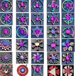 dragon spinner NZ - rainbow Metal fidget spinner star flower skull dragon wing Hand Spinner for Autism ADHD Kids adults antistres Toy EDC Fidget Toy