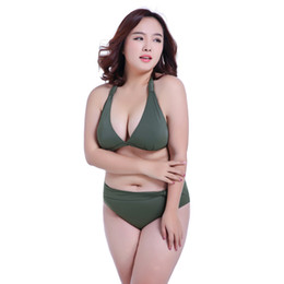 646796c2c9b6e 2019 Large Size Women Swimsuit Female Big Yard Swimsuit Big Bra Cup  Gathered Sexy European America Bikini Swimwear Bikini Mujer Gran Tamano