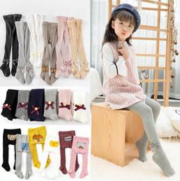 $enCountryForm.capitalKeyWord Australia - Baby Leggings Kids Designer Clothes Girls Bowknot Pantyhose Cotton Princess Tights Skinny Casual Pants Long Stockings Fashion Trousers A5512