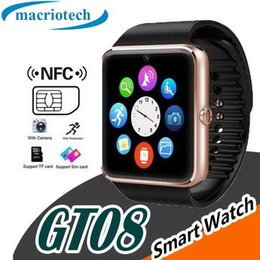 $enCountryForm.capitalKeyWord Australia - Smart Watch GT08 Clock With Sim Card Slot Push Message Bluetooth Connectivity Android Phone Better Than DZ09 Smartwatch