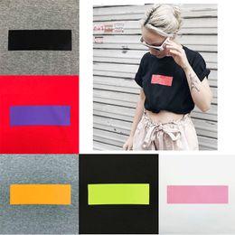 HigH quality wHite tees online shopping - 2019 Fashion High Quality Box logo Summer Fashion Matcha Green Peach Pink T shirt Top Men Women Sport Cotton T Shirt Casual Tee