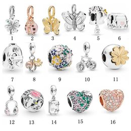 pandora christmas charms Australia - Fashion 925 Sterling silver Fit Pandora charm beads for women necklace DIY pendant butterfly beads bracelets love beads jewelry wholesale