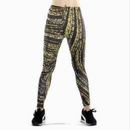 Leggings Shine UK - Women Yoga Pants Pants Digital Print Digital Polka Dot Shining Print Pantyhose lady High Waist Dance Activity Leggings Tights