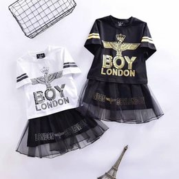 Fairy Style Dresses UK - New girls hot stamping print dress fashion letter mosaic dress cotton short-sleeved T-shirt casual loose shirt free shipping