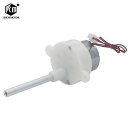 10PCS 6 v Micro Motor Da Engrenagem Excêntrica 4 Longo Do Eixo de Baixa Velocidade rpm Do Motor Engrenado on Sale