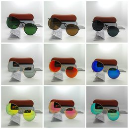 $enCountryForm.capitalKeyWord NZ - Hot Glass lens Round frame Fashion Men and Women Coating Sunglasses UV400 Brand Designer Vintage Sport Sun glasses