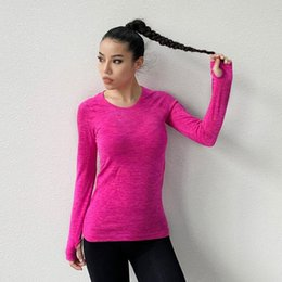 shirt train Australia - Top Female Sports Tight Booties Quick Dry Elasticity Winter Fitness Sports Running Training Yoga T-shirt Yoga Sportswear Women