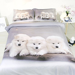 $enCountryForm.capitalKeyWord Australia - Dog Comforter Cover Bedding Sets Queen For Teen Girls Grey Lighthouse Duvet Cover King Puppy Bedspread Twin NO Quilt 3pc Pillow Shams