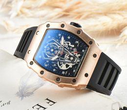 Silicone Figures Australia - The latest men's fashion watch hollow figure silicone band quartz leisure watch