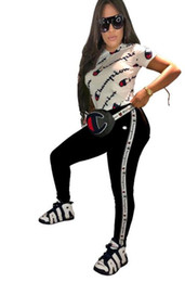 Printed cotton tights online shopping - Womens Champions Clothing short sleeve Shirts Pants outfits piece set casual tracksuit jogging sport suit sweatshirt tights Joying