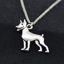 wholesale dog lover gifts NZ - New Doberman Pendant Stainless Steel Chain Necklace Men Colar Boho Dog Choker Women Fashion Jewelry Accesorios Mujer Pet Lover Party Gift