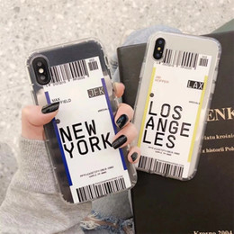 code apple Australia - Cute ins Funny Bar code Label phone case For iphone Xs MAX XR X 7 8 plus 11 11Pro 11Pro MAX Clear soft TPU back Cover Fundas