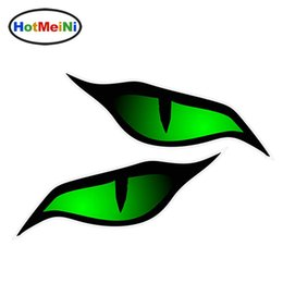 $enCountryForm.capitalKeyWord Australia - Wholesale Pair Of Evil Eye Eyes Design In Green For Motorbike Biker Helmet Car Sticker 3D Car Styling 12cm x 5cm