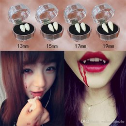 Vampire Props NZ - 5 Styles Horrific Fun Clown Dress Vampire Teeth Halloween Party Dentures Props Zombie Devil Fangs Tooth With Dental Gum DH199