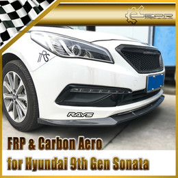 $enCountryForm.capitalKeyWord Australia - Car-styling For Hyundai 9th Gen Sonata LF Carbon Fiber Front Lip Fibre Bumper Accessories(China Version)