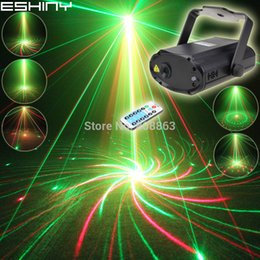 Mini R&G Laser Big 8 Patterns Projector Dance Disco Bar Family Party Xmas Stage Lights DJ environment lighting Light Show T20
