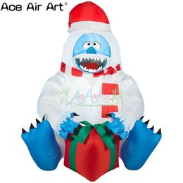 $enCountryForm.capitalKeyWord Australia - high quality light inflatable bumble abominable snowman with red gift box for Christmas decorations