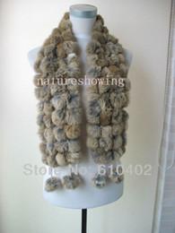 $enCountryForm.capitalKeyWord Australia - real rabbite fur handmade scarf cape 108 balls natural brown