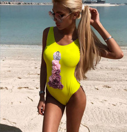 Discount 3d swimwear - Freeshipping GIRL swimsuit 3D Flower Swimsuit One Piece Beach Wear Summer Hot Sale Girl Sexy Bikini Swimwear for woman
