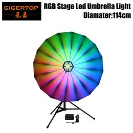 Stage lighting truSSeS online shopping - Gigertop Umbrella Light Inch Stage Light Background Umbrella RGB Color Mixing DMX Control Can Mount By Stand or Truss TP UM25