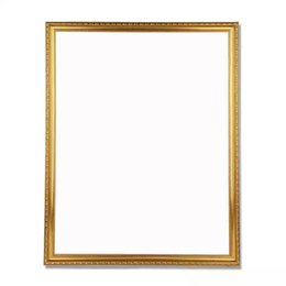 bamboo photo frames Australia - 1PCS New Diy Out Frame Unfinished Wood Stretcher Digital Oil Painting with Gold Color Photo Frame Wall Painting Picture Frame SH190918