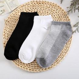 Ingrosso 10PC = 5 paia calzini corti da uomo traspirante low cut calze invisibili da barca pantofole comode caviglia da uomo / uomo