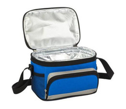 Picnic Ice Packs UK - Oxford Cuboid Insulated Cooler Pure Colour Picnic Bag Aluminum Film Zipper Heat Insulation Portable Package Ice Pack Hot Sale