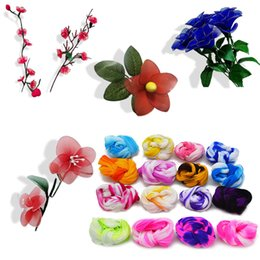 $enCountryForm.capitalKeyWord Australia - rtificial Decorations Artificial Dried Flowers Tensile Nylon Stocking Material Accessory For DIY Handmade Flower Gift 5Pcs Double Color S...