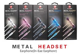 high end bluetooth headset 2019 - R101 High-end Metal Smart Headset Motion Bluetooth Earplug Wired Headset discount high end bluetooth headset