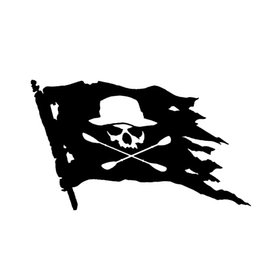 $enCountryForm.capitalKeyWord UK - Canoe Skull Flag Vinyl Sticker Car Truck Ship Happy Vinyl Car Sticker Decorative Decal Fittings