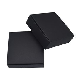 $enCountryForm.capitalKeyWord Australia - 50pieces Black 5.8*5.8*3.2 Kraft Paper Box Weeding Party Decor Package Boxes Handmade Soap Storage Packaging Box DIY Gift Packing Box
