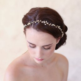 hair vine crystal Australia - Slbridal Vintage Simple Clear Crystals Wedding Hair Vine Bridal Headpiece Headband Hair Accessories Bridesmaids Headdress Women Y19051302