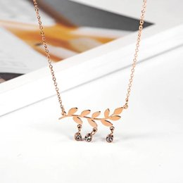 Roses Factories NZ - European and American Fashion Rose Gold Chain Staff Welfare Women Travel Chain Factory Direct Clothing Accessories Jewelry Accessories