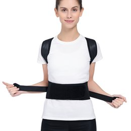 magnetic posture support corrector back belt 2019 - Adjustable Magnetic Posture Corrector Back Support Correction Belt Shoulder Braces Waist Care WHShopping cheap magnetic