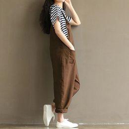 Jumpsuits Comfortable NZ - Women Loose Long Suspender Pants Jumpsuit Slim Comfortable Overalls Harem Trousers Romper QL Sale
