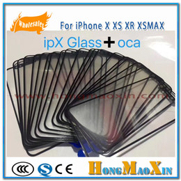 $enCountryForm.capitalKeyWord Australia - 10Pcs 2 in 1 Front Outer Glass for iPhone X XS XR XSMAX or Glass Lens with OCA Film LCD Screen Replace Repairing