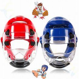 Taekwondo proTecTors online shopping - adult kid Taekwondo Headguard Helmet Karate boxing Sanda Mask ITF head face Protector Headgear