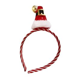 christmas photo props NZ - 1 pc Hair Band Fashion Christmas Hat Shape Headdress Photo Props Hair Hoop Party Favors for Children Kids Adults