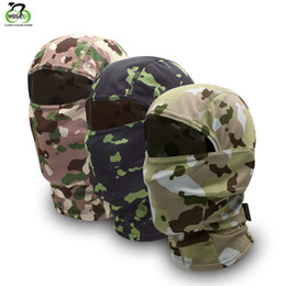 Army tActicAl helmet online shopping - WOSAWE Camouflage Balaclava Full Face Mask Wargame Cycling Hunting Ski Army Bike Helmet Liner Tactical Cap Mask