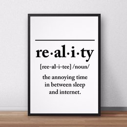 $enCountryForm.capitalKeyWord Australia - Reality Definition Canvas Painting Wall Art Posters and Prints Pictures Funny Printable Home Decor No Frame