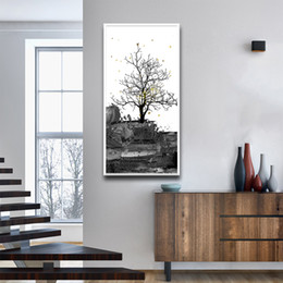 PhotograPhy decor online shopping - Cartoon Tall And Straight Of Tree Fashion Photography Canvas Art Prints And Posters For Living Room Poster Bedroom Decor