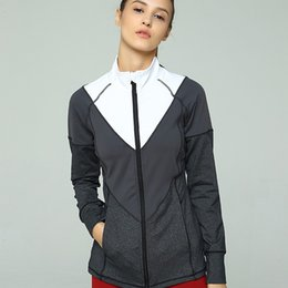 Nylon Coating Australia - New custom women's fashion sports fitness jacket zipper coat shirt yoga clothes women comfortable breathable nylon