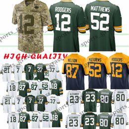a736670ac 12 Aaron Rodgers Green Bays 52 Clay Matthews Packer 23 Jaire Alexander 17  Davante Adams 80 Jimmy Graham jersey Youth Adult